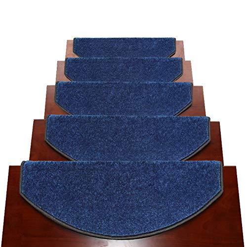 Arc Blue Area Teppiche, Designer Innentreppenteppich für All Silikon Selbstansaugende Treppenmatten (Farbe : Set of 5, größe : 100x24x3cm) - Blue Area Teppich
