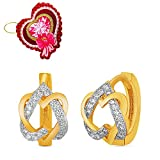 Mahi Heart Lock Stud Earrings with CZ with Heart Shaped Card for Women ER5109322GCd best price on Amazon @ Rs. 599