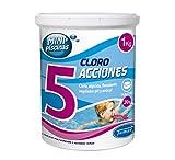 Tamar - Cloro 5 Acciones, Tabletas Multifuncion de 20 grs, Especial para Mini...