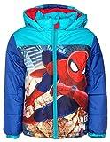Marvel Spiderman Kinder Winterjacke, original Lizenzware, türkis/blau, Gr. 104