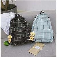 YOIL Beautiful Fashion Gift Storage Bag Middle School Student Plaid Pattern Fashion Schoolbag Casual Backpack
