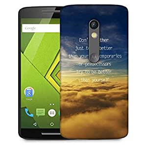 Snoogg Better Than Yourself Designer Protective Phone Back Case Cover For Moto G 3rd Generation