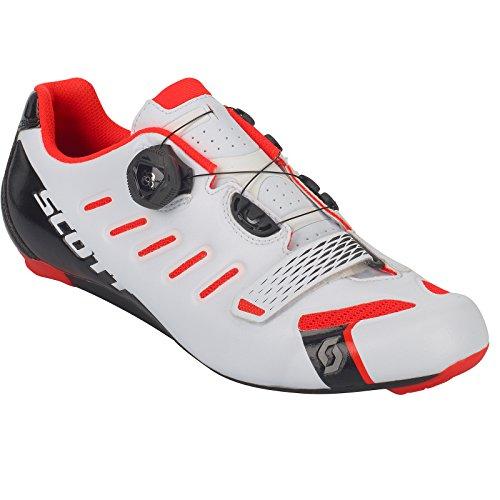 Scott Road Squadra Boa per bici da corsa scarpe bianco/rosso 2018, 39