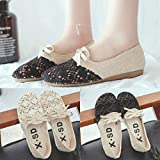 Lailailaily Womens Outdoor Breathable Flats Linen Ethnic Style Light Single Casual Shoes