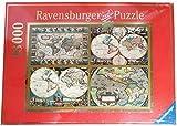 Ravensburger 178216 - 4 Mappamondi Storici Puzzle, 18.000 Pezzi (Articolo Fuori Produzione, Giacenza di Magazzino con lievi difetti estetici sulla Scatola) Dimensione: 276 x 192 cm