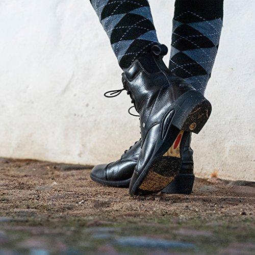 Bottines d'équitation» Oxford Ultima RS PRO «Lacets. Boots d'équitation en cuir de vachette–Confortable chaussures solide avec semelle caoutchouc, Semelle OrthoLite®, intérieure douce en cuir–Bo noir