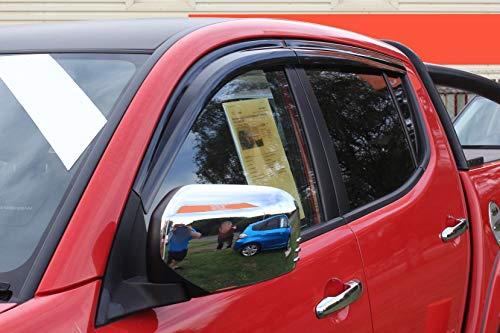 Autoclover déflecteurs d'air Mitsubishi L200 2006+ - double cabine (lot de 4) (fumé)