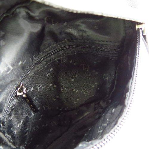 Bolsa de cuero para los hombres 'Peau De Pèche' negro (slim).