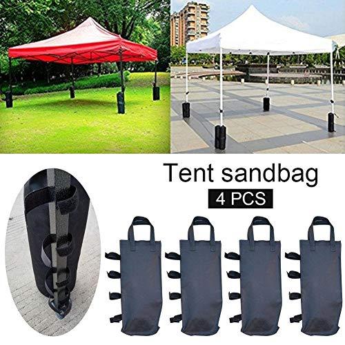 BeneU Pavillon Sand Gewichte Pavillon Sandsäcke 4pcs Unterstützung Festzelt Tasche Inc Twin-Bein Zip Top Sandsack Gewichte Für Die Verankerung Von Pavillons, Zelten, Sonnenschirmen, Trampolinen - Twin-top-zip