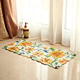 YHJ carpet Sun Flower Bathroom Toilet Non - Slip Plastic Pvc Mats Bath Foot Pad Shower Room Door Mat ( Size : 35*71CM )