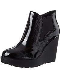 Calvin Klein Damen Sydney Crinkle Patent Stiefel