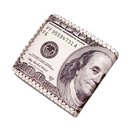 Gucci Canvas Mini (Männer Mini Geldbörse Goosun Währung Kreativität Leder Dünn Brieftasche Geldtasche Kartenhalter Multifunktion Portemonnaie Handschlaufe Clutch Handtasche Portmonee Kleinformat Geldbeutel (1 PC, D))