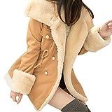 Trenchcoat Damen,Dasongff Damen Winter Mode Wollmantel Warme Zweireiher Wollmischung Jacke Frauen Mantel College-Stil Trenchcoat Outwear Jacke Slim Fit (Kamel, XL)