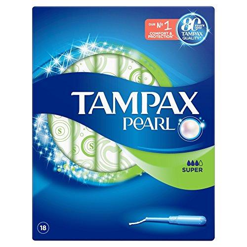 Tampax Pearl Super Applikator Tampons, 4Stück, 18-count - Karton Applikator Tampons
