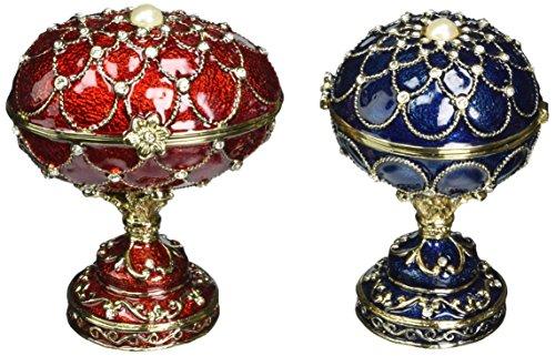 Design Toscano Gatchina & Peterhof Palais Royal Œufs Emaillés Style Fabergé, Multicolore, 6.5 x 7.5 x 10 cm