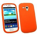 Emartbuy ® Samsung Galaxy S3 Mini I8190 Silicon Skin Cover / Case Orange