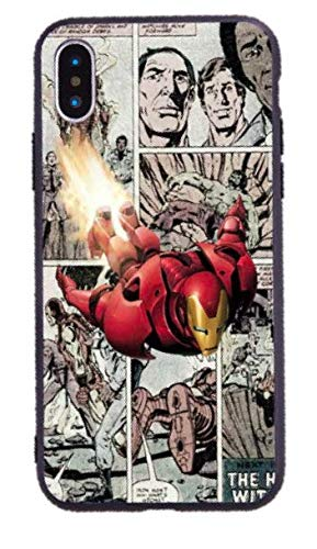 Art Design Hülle für iPhone XR Soft Silikon Iron Man Marvel Super Hero Comics Superheld Soft Silikon