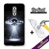BeCool - Coque Etui Housse en GEL Ulefone Gemini, [ +1 Protecteur Verre Trempé ] Silicone TPU, protège et s'adapte a la perfection a ton Smartphone. OVNI.