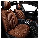 Lgan Autositzbezug, vorderer und hinterer 5-Sitzer Full Set Universal Leinen Four Seasons Pad Kompatibel Airbag Seat Protectors (Farbe : Brown)