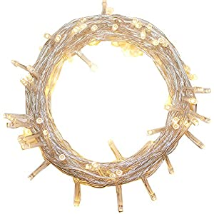 100-1000 LED String Fairy Lights On Clear Cable with 8 Light Effects, Ideal for Christmas, Xmas, Party,Wedding,ETC (400 LED, Warm White)