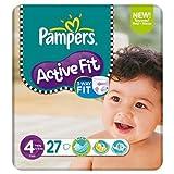 Pampers Active Fit Größe 4 (7-18kg) Carry Pack 6 pack x 27 pro Packung