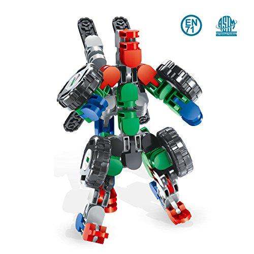 Bausteine Set 58 Stück Inspirierender Standard Bausatz-Kreative und Pädagogische Spielzeuge Steckbausteine Baustein Roboter & Baustein Auto