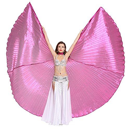 Preisvergleich Produktbild Dance Fairy Rose Bauchtanz Isis Flügel Props,Einschließlich Stöcke