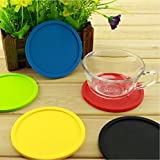 Round Silicone Coaster Cup Coffee Drinks...