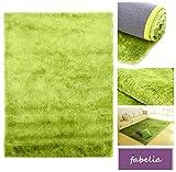 Fabelia Hochflor Teppich Gentle Luxus Grün-Apfel-Smoothie/Seidig und Flokati-Weich (140x200 cm)