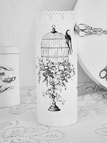 Windlicht ' Birdcase' Vase Kerzenglas Unikat