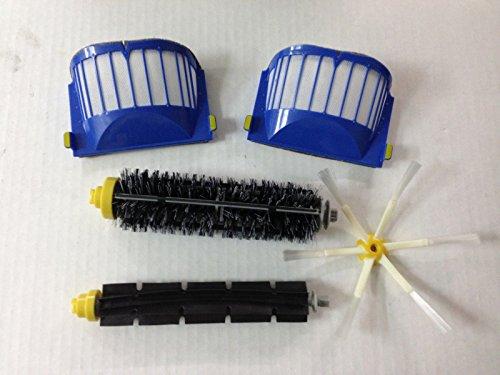Cambio per iRobot 2 Aero Vac Filter & 1 pennelli di setola e 1 Flexible Beater Brush & 1*6 spazzola laterale armati kit pack Rifornimento Roomba 600 Series (620.630.650.660) Vacuum Robot Nuovo