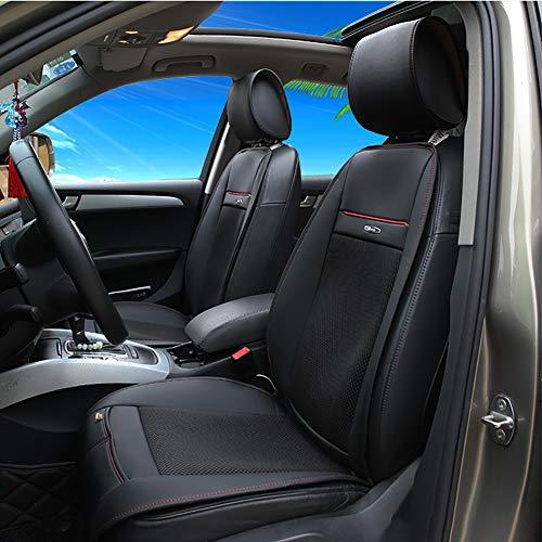 Auto Sitzkissen Massagekissen Sitzbezug mit Heizung und Belüftung Funktion ganzjährige Nutzung Beheizbare Sitzauflage mit Rückenstützung, Extra Festsitzender Stecker für 12V Fahrzeugdose Einzelkissen