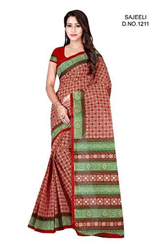 D D Enterprise Women's Cotton Sarees(A 8_Multicolour_FreeSize)