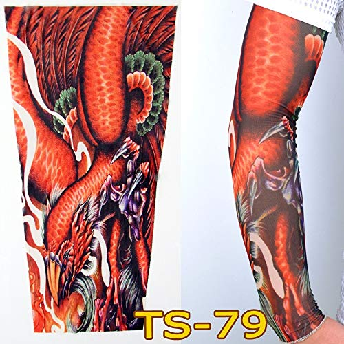 tzxdbh Vielzahl von Tattoo - Ärmeln, Sonnencreme Manschette, Persönlichkeit, Outdoor, Tattoo, Ärmel, Blume Arm TS79 (单 单