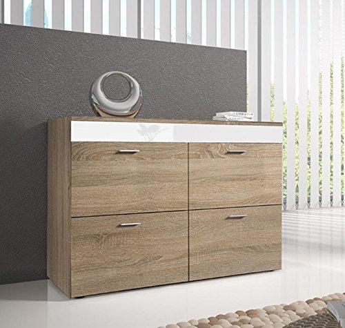 Muebles bonitos - Cómoda Venice Color Sonoma Blanco
