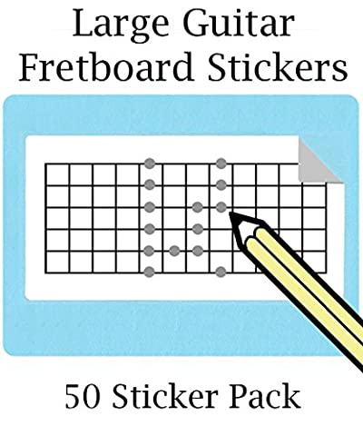 Large Guitar Fretboard Stickers (50 Pack) 12 Frets (FREE SHIPPING AT CHECKOUT)