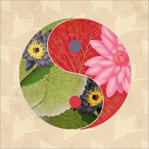 Forex-Platte 120 x 120 cm: Yin & Yang auf Papierkranichen I von Mandy Reinmuth
