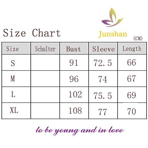 Junshan Femme Tshirt Casual Manches Longues Pull Rose
