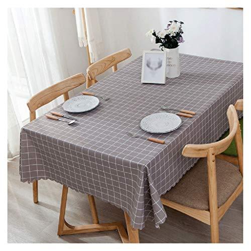 PVC-Kunststoff rechteckige Tischdecke, wasserdicht, ölbeständig und Anti-Verbrühung Tischdecke Esstisch Schreibtisch Picknick sauber Karierten Tischdecke Tischdecken ()