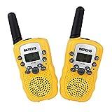 Retevis Transceptor Walkie Talkie RT-388 Transmisor VOX de 8 Canales para Niños (Amarillo)