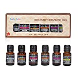 #1: Bebaboo Set of 6 Essential Aroma Diffuser Oil Pack (Lemon Grass, Lavender, Mandrin, Jasmine, Sandalwood, Rose) Each 10 ML