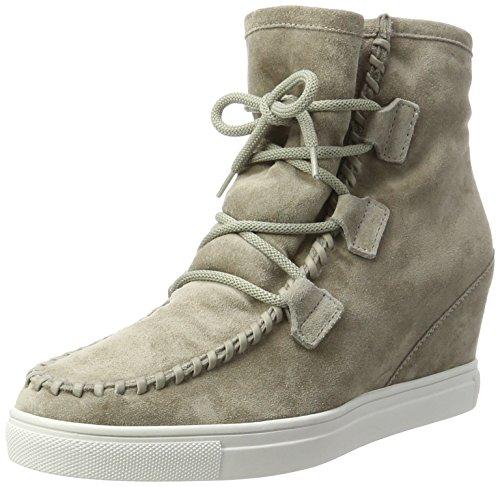 Damen Harlem Stiefel, Grau (Elefant Sohle Weiss), 40.5 EU (7 UK) (Damen Grau Keil Stiefel)