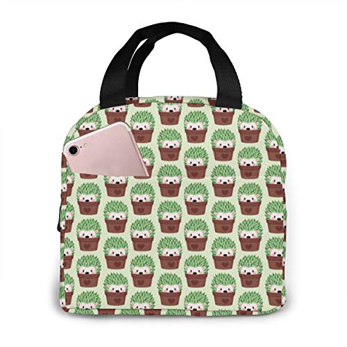 Qing_II Kleinere Igel Verkleidete Kakteen Kühltasche Lunch Tote Cooler Bag Lunch-Taschen Kühltaschen Boxen -