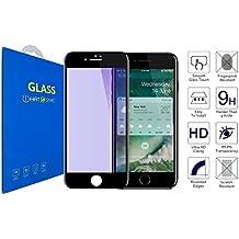 iPhone 7 iPhone 8 - Anti Luz Azul , Curvo 4D Cristal Templado Protector de Pantalla