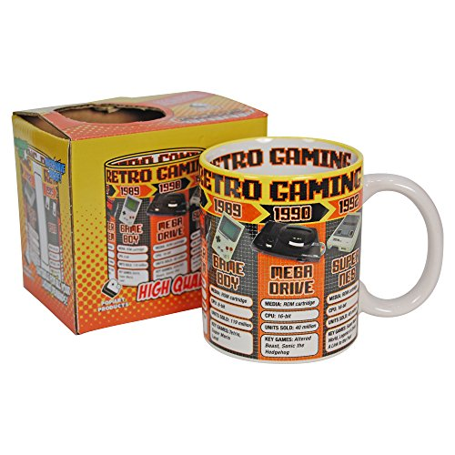 Retro Game Consoles Mug. Nintendo SEGA Atari Game Boy SNES