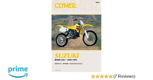 suzuki rm80 rm125 rm250 1989 1995 clymer workshop manual amazon rh amazon co uk Suzuki RM 125 Suzuki RM 125