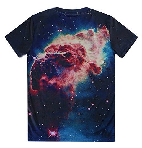 Pretty321 Men Women Monster Cloud in Sky Stars Galaxy Print 3D Top T-shirt Unisex Amazon