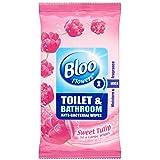 Bloo Fleurs toilettes et salle de bains Anti Bacterial Lingettes Doux Tulip (36) - Paquet de 6