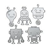Starnearby - 5 piezas de troqueles de corte para álbumes de recortes, repujados, plantillas de metal, decoración