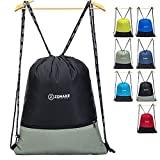 ZOMAKE Cordón Mochila Bolsa Sackpack Impermeable Deporte Gimnasio Saco Bolsas de Cuerdas Gymsack Backpack para Hombre y Mujer(Negro)